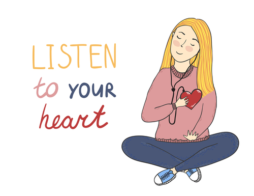 Turn off Your Head and Listen to Your Heart - Be Still and Listen by Jean Walters